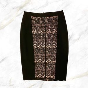 Mossimo | Pastel Pink Black Lace Printed Skirt
